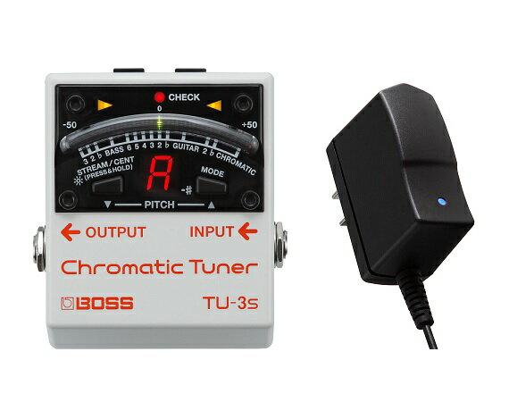 【ポイント2倍】【送料込】【純正ACアダプター/PSA-100S2付】BOSS ボス TU-3S Chromatic Tuner 【smtb-TK】