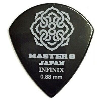 【ポイント2倍】【メール便・送料無料・代引不可】【10枚セット】MASTER8 JAPAN INFINIX JAZZ III XL 0.88mm ギター ピック [IF-JZ088]【smtb-TK】