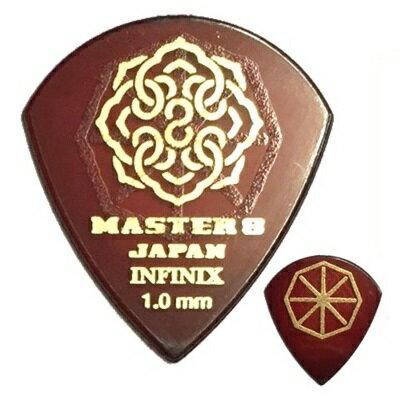 【ポイント2倍】【メール便・送料無料・代引不可】【10枚セット】MASTER8 JAPAN INFINIX JAZZ III XL 1.0mm HARD GRIP 滑り止め加工 ギター ピック [IFS-JZ100]【smtb-TK】