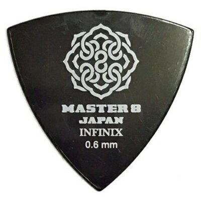 【ポイント2倍】【メール便・送料無料・代引不可】【10枚セット】MASTER8 JAPAN INFINIX 三角 0.6mm ギター ピック [IF-TR060]【smtb-TK】