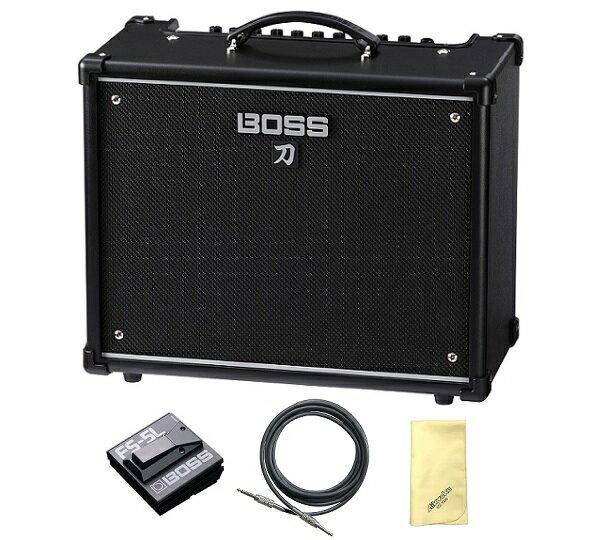 【ポイント2倍】【送料込】【愛曲クロス付】【フットスイッチ/FS-5L+接続ケーブル付】BOSS ボス KATANA-50 KTN-50 Guitar Amplifier BOSSフラッグシップの技を継承する切れ味鋭い本格的ロック・サウンド【smtb-TK】
