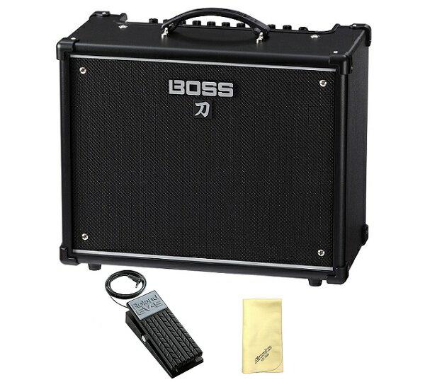 【ポイント2倍】【送料込】【愛曲クロス付】【エクスプレッションペダル/EV-5付】BOSS ボス KATANA-50 KTN-50 Guitar Amplifier BOSSフラッグシップの技を継承する切れ味鋭い本格的ロック・サウンド【smtb-TK】