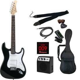 【送料込】【初心者入門9点セット】Photogenic ST-180/BK エレキギター ライトセット【smtb-TK】