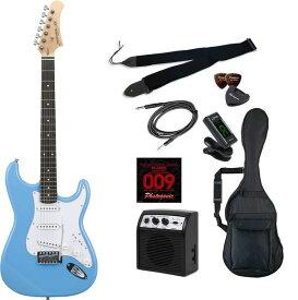 【送料込】【初心者入門9点セット】Photogenic ST-180/UBL エレキギター ライトセット【smtb-TK】