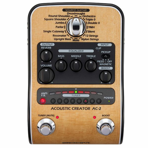 【限定ZOOMピック2枚付】【送料込】【ACアダプター付属】ZOOM ズーム AC-2 Acoustic Creator【smtb-TK】