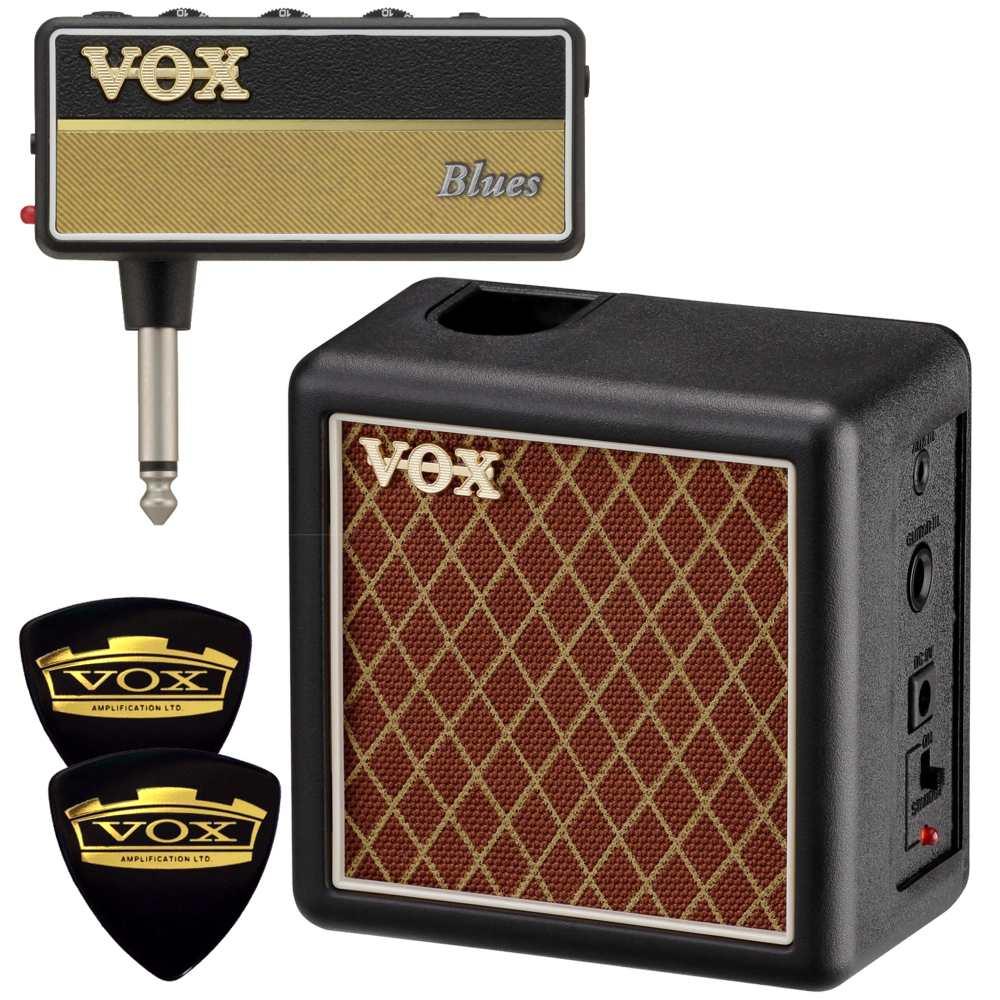 【ポイント2倍】【送料込】【限定VOXピック2枚付】VOX ヴォックス AP2-BL + AP2-CAB amPlug2 Blues + 専用キャビネット/ミニアンプ【smtb-TK】