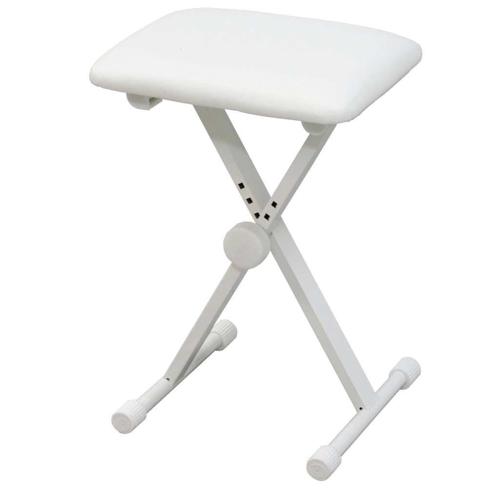 【ポイント2倍】【送料込】KIKUTANI キクタニ KB-60 WHT(ホワイト) 4段階高さ調整 折り畳みイス キーボードベンチ ピアノ椅子【smtb-TK】