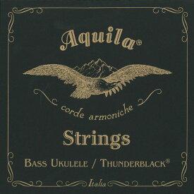 【ポイント2倍】【メール便・送料無料・代引不可】【1セット】Aquila アクイーラ AQ-BUB(140U) THUNDER BLACK ベースウクレレ弦 ウクレレベース用【smtb-TK】