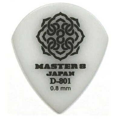 【ポイント2倍】【メール便・送料無料・代引不可】【10枚セット】MASTER8 JAPAN D-801 ポリアセタール JAZZ III XL 0.8mm ギターピック [D801-JZ080]【smtb-TK】
