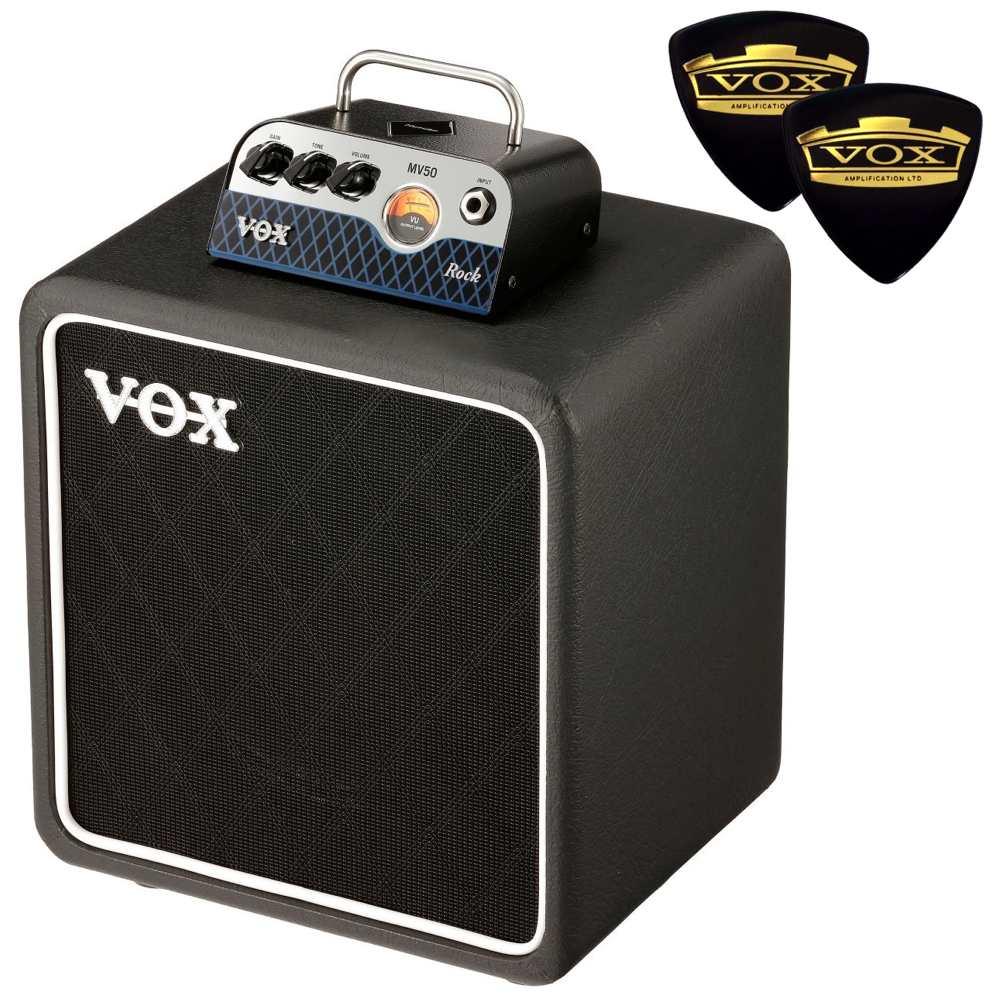 【ポイント10倍】【送料込】【限定VOXピック2枚付】VOX ヴォックス MV50-CR / Rock + BC108 新真空管 Nutube 搭載 アンプ・ヘッド + キャビネット【smtb-TK】