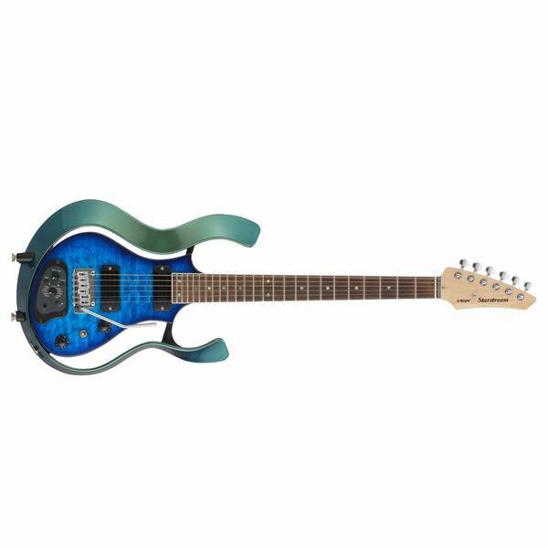 【送料込】VOX ヴォックス VSS-1-24MGTL-Q [TRANS BLUE/QULTED MAPLE TOP] Starstream パッシブ・モード 搭載 モデリング・ギター 【smtb-TK】