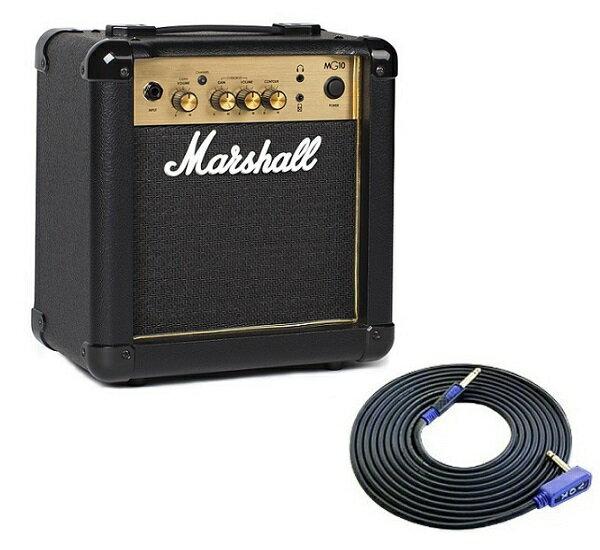 【限定Marshallピック2枚付】【送料込】【VOXシールド付】Marshall マーシャル MG10 Gold 正規輸入品【smtb-TK】