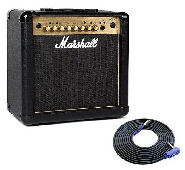 【限定Marshallピック2枚付】【送料込】【VOXシールド付】Marshall マーシャル MG15FX Gold 正規輸入品【smtb-TK】