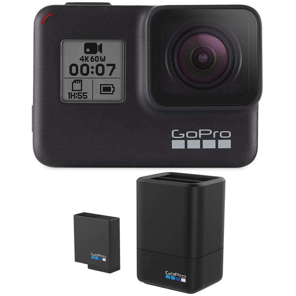 【ポイント2倍】【送料込】【充電器+バッテリーセット付】GoPro CHDHX-701-FW HERO7 Black ウェアラブル・カメラ 【smtb-TK】