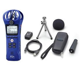 【ポイント2倍】【送料込】【アクセサリパッケージ/APH-1n付】ZOOM ズーム H1n/L ブルー シンプル操作の高音質レコーダー【smtb-TK】