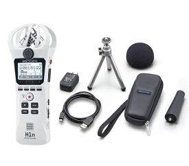 【ポイント2倍】【送料込】【アクセサリパッケージ/APH-1n付】ZOOM ズーム H1n/W ホワイト シンプル操作の高音質レコーダー【smtb-TK】