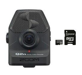 【送料込】【microSDHCカード/16GB付】ZOOM ズーム Q2n ハンディビデオレコーダー【smtb-TK】