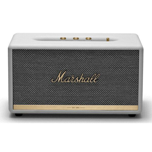 【ポイント12倍】【送料込】【国内正規品】Marshall マーシャル ZMS-1001903 StAMNore II Bluetooth White Bluetooth5.0 搭載 コンパクト オーディオ スピーカー 【smtb-TK】