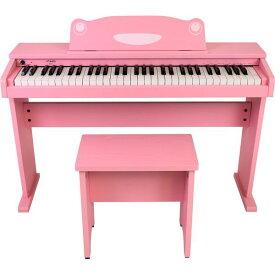 【送料込】【ポイント5倍】artesia アルテシア FUN-1 PK ピンク オールインワン 61鍵盤 キッズピアノ デジタルピアノ 【smtb-TK】