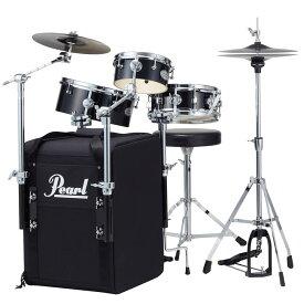 【送料込】Pearl パール RT-703/C No.31 Jet Black オール・イン・ワン・パッケージ ドラムセット リズムトラベラー Rhythm Traveler Black Box 【smtb-TK】