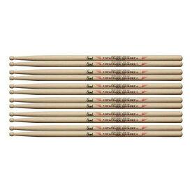 【送料込】【6ペア】Pearl パール STH-103 ヒッコリー ドラム スティック 14 x 384mm 【smtb-TK】