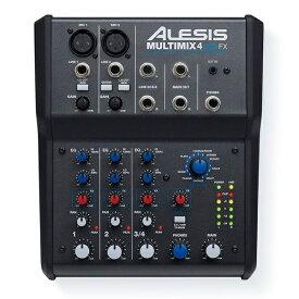 【ポイント10倍】【送料込】Alesis アレシス MULTIMIX 4 USB FX エフェクト&USBオーディオインターフェース内蔵 4チャンネル ミキサー【smtb-TK】