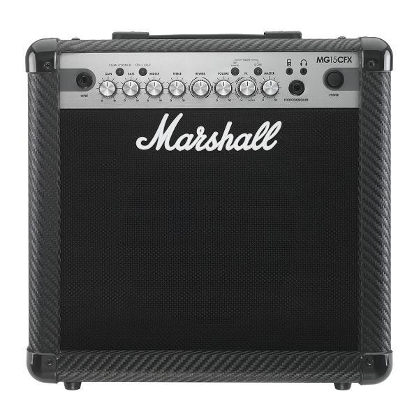 【限定Marshallピック2枚付】【ポイント10倍】【送料込】Marshall MG15CFX マーシャル MG CF(カーボン・ファイバー)シリーズ【smtb-TK】