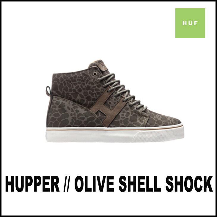 HUF スニーカー ハフ HUPPER ハッパー メンズ :OLIVE/SHELL/SHOCK