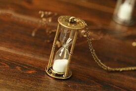 砂時計 ネックレス アンティークゴールド アクセサリー ヴィンテージ ナチュラル