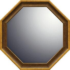 ユーパワー ナチュラル 八角ミラー Mサイズ ブラウン NM-030234996953066490/ アンティーク アート おしゃれ 人気 幸運 ナチュラル 八角ミラー 鏡