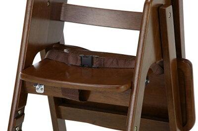 【あす楽】カトージ木製ハイチェアCENAセナステップ切り替えブラウン(22406)/ベビーチェアテーブル付折りたたみ7ヵ月からYKK製股ベルト付回せるテーブル4段階に高さ変更可能[02P05Nov16]