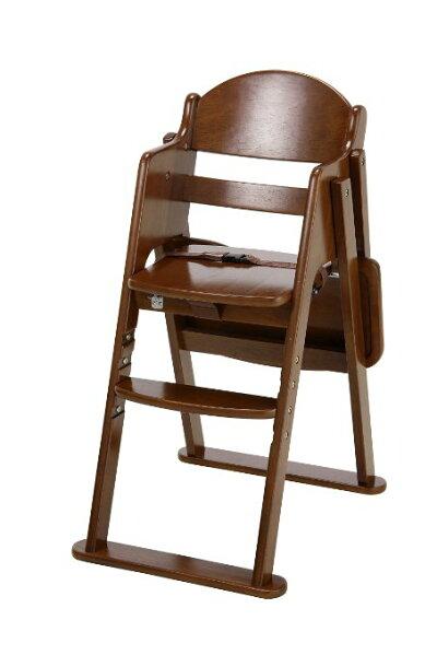 カトージ木製ハイチェアCENAセナステップ切り替えブラウン(22406)/ベビーチェアテーブル付折りたたみ7ヵ月から股ベルト付4段階に高さ変更可能【ラッキーシール対応】