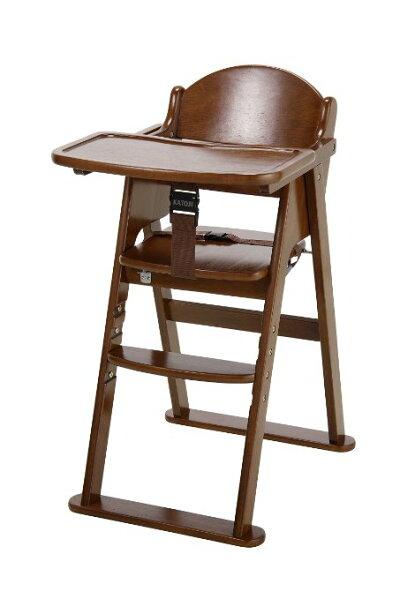 カトージプレミアムベビーチェアブラウン(22927)/ベビーチェアテーブル付フロントガード付7ヵ月から60kgまでYKK製股ベルト付回せるテーブルスタビライザー付大人も使える自由に高さ変更可能