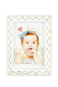 ベビーフレーム ピンク Pink / ポストカード サービスサイズ ベビーフレーム おしゃれ デコ 卓上用 かわいい ベビーフォトフレーム 写真立て 売れ筋 メモリアルフォト ギフト 記念品 出産祝い