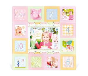 ベビーフレーム ピンク Pink / ポストカード サービスサイズ ベビーフレーム おしゃれ デコ 卓上用 かわいい 写真立て 売れ筋 メモリアルフォト ギフト 記念品 出産祝い 赤ちゃん イヤーフォ
