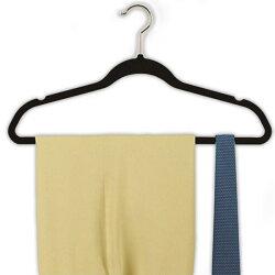 ズレ落ち防止ハンガーハンガー洗濯用品収納ブラック10本組すべり落ちにくいハンガー黒スリムハンガー10本セット♪【05P07Feb16】