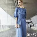【セール】【Aimer Acret】ラグランボリュームスリーブドレス 【エメ パーティードレス フォーマル ゲスト レディース…