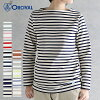 オーシバルオーチバル long sleeves cut-and-sew horizontal stripe #B211[orcival Lady's cotton road horizontal stripe cut-and-sew French Basque shirt 2017aw]