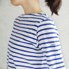 オーシバル / オーチバル ORCIVAL 40/2 STRIPE seven minutes sleeve boat neck cut-and-sew #RC-6882 plain horizontal stripe cut-and-sew Lady's boat neck 2019SS | Spring clothes in spring fashion casual clothes horizontal stripe cut-and-sew three-quarter sleeves tops f