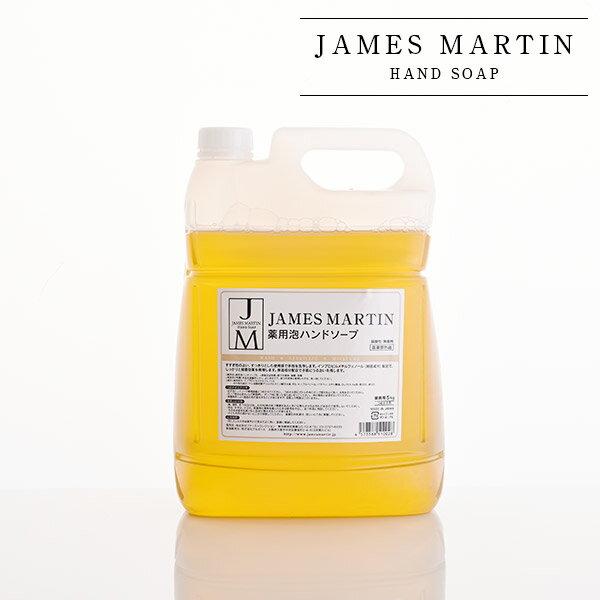 ジェームズマーティン 薬用泡ハンドソープ 詰め替え用 5kg [james martin 薬用ハンドソープ 業務用]【医薬部外品】