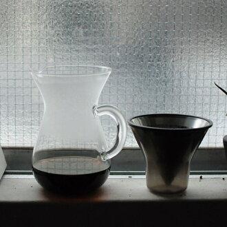 킨 토 커피 카라 페 세트 600ml 스텐 레 스 (SCS-04-CC-ST) [커피/커피/집 카페/핸드 드립/KINTO] 4 잔 용