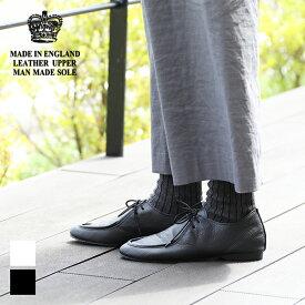 【24時間限定!最大10%OFFクーポン配布中!】クラウン CROWN エプロンジャズシューズ APRON JAZZ 英国製 レザーシューズ 靴 トラベル レディース【交換対応可】
