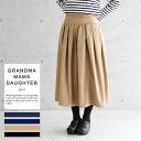 グランマ ママ ドーター プリーツスカート[GRANDMA MAMA DAUGHTER 定番 ロングスカート チノ デニム] | グランマママ…