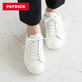 【最大450円OFFクーポン配布中!】パトリック PATRICK パンチ14 / ホワイト レザーシューズ / スニーカー 靴 革靴 牛革 フラットシューズ フランス レディース 定番モデル【交換対応可】 | シューズ カジュアルシューズ カジュアルスニーカー