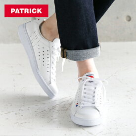 パトリック PATRICK ケベック / ホワイト レザーシューズ / スニーカー 靴 牛革 フラットシューズ オフホワイト フランス レディース 定番モデル【交換対応】|シューズ カジュアル カジュアルシューズ