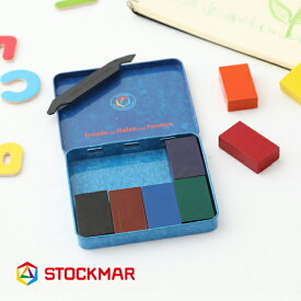 シュトックマー (STOCKMAR) みつろうブロッククレヨン 8色缶 蜜蝋 クレヨン ギフト プレゼント 誕生日 出産祝 安全 シュタイナー教育 ゲーテ 色彩論