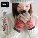 EVOLG エヴォログ フルール FLEUR/LET2365 スマホ手袋 スマートフォン タッチパネル対応 レディース メンズ 男女兼用 グローブ 裏起毛 ニット 日本製 2020AW