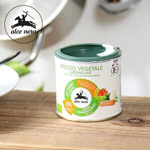 アルチェネロ(alce nero) 有機野菜ブイヨン・パウダータイプ 120g / 顆粒ブイヨン 粉末 オーガニック 有機JAS EU認証 香味野菜 ベジタブルブイヨン スープ