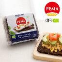 ペーマ(PEMA) 有機全粒ライ麦パン プンパーニッケル 375g(7枚入り) / ライ麦パン ドイツパン 有機全粒ライ麦 有機JAS EU認証 オーガニック ぱん 朝食 非常食 カナッペ サンドイッチ