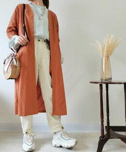 【綿麻の涼しい夏ガウン】アウターレディース春夏カーディガンロングガウン長袖薄手ロングカーディガンリネンカーディガン綿麻羽織り涼しい通気性おしゃれ冷房対策UV対策20代30代40代50代【軽くてさらり】